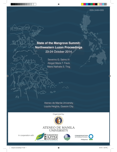 1st State of the Mangrove Summit Proceedings (Northwestern Luzon)