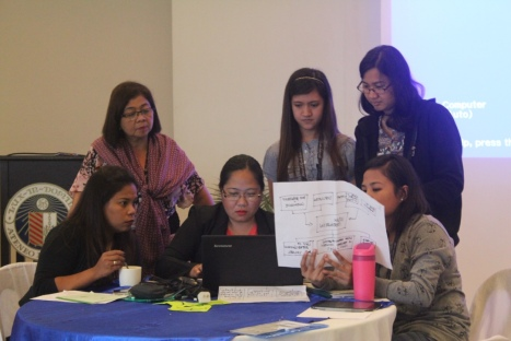 Delegates from Cavite and Batangas, along with students from UP and Ateneo collaborate on an action plan to solve problems identified during the 1st day of the summit